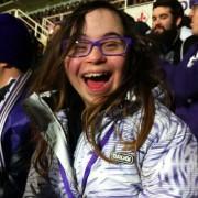 Irene allo stadio
