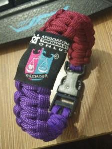 braccialetto Viola e Granata 24 gennaio 2016