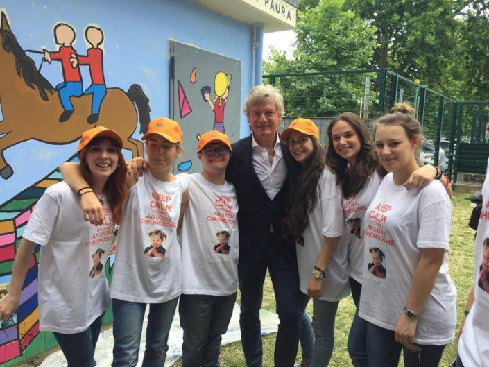 Foto del gruppo con Antognoni